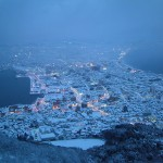 View of the city from the top of Mt. Hakodate.