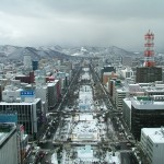 Odori Park during the Sapporo Snow Festival.