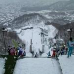 The ski jump.