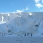 A snow sculpture from the Sapporo Snow Festival.