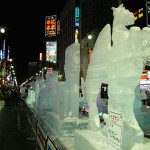 Susukino ice scupltures during the Sapporo Snow Festival.