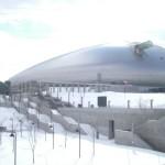 Sapporo Dome in winter.