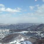 View of Sapporo from Okurayama.